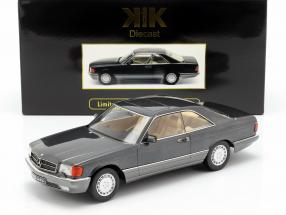 Mercedes-Benz 560 SEC C126 Baujahr 1985 anthrazit 1:18 KK-Scale