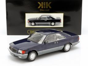 Mercedes-Benz 560 SEC C126 year 1985 blue metallic 1:18 KK-Scale