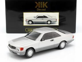 Mercedes-Benz 560 SEC C126 year 1985 silver 1:18 KK-Scale