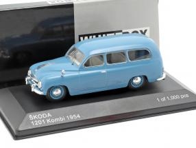 Skoda 1201 Kombi Baujahr 1954 blau 1:43 WhiteBox