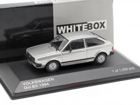 Volkswagen VW Gol BX year 1984 silver metallic 1:43 WhiteBox