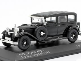 Mercedes-Benz Typ Nürburg 460 (W08) Baujahr 1929 schwarz 1:43 WhiteBox