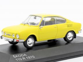 Skoda 110R Baujahr 1970 gelb 1:43 WhiteBox