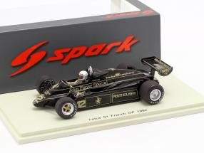 Geoff Lees Lotus 91 #12 French GP formula 1 1982 1:43 Spark