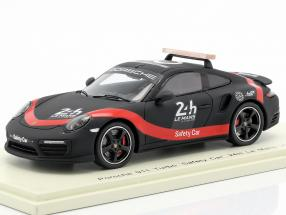 Porsche 911 Turbo Safety Car 24h LeMans 2018 black / red 1:43 Spark