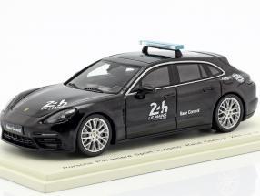 Porsche Panamera Sport Turismo Race Control 24h LeMans 2018 schwarz 1:43 Spark