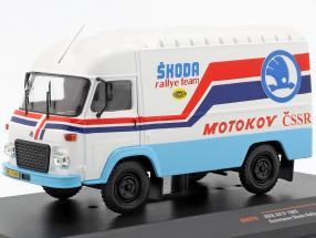 Avia A21F Baujahr 1985 Rallye Assistance Skoda Rallye Team weiß / blau / rot 1:43 Ixo