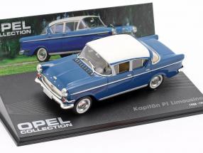 Opel Kapitän P1 Limousine 1958-1959 blue / white 1:43 Ixo Altaya