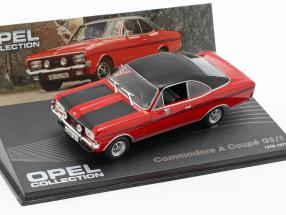 Opel Commodore A Coupe GS/E 1970-1971 red / black 1:43 Ixo Altaya