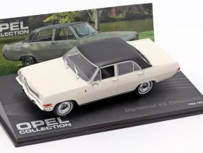 Opel Diplomat V8 Limousine Year 1964 white with black Roof 1:43 Ixo Altaya