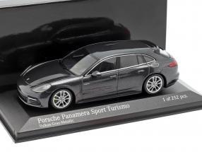 Porsche Panamera Sport Turismo 4E-Hybrid 2017 volcano gray metallic 1:43 Minichamps