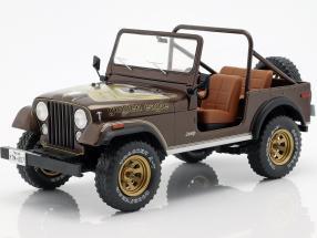 Jeep CJ-7 Golden Eagle Baujahr 1976 dunkelbraun metallic 1:18 Model Car Group