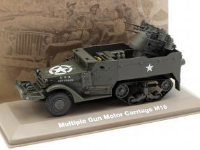 Multiple Gun Motor Carriage Militär US Army dunkeloliv 1:43 Atlas