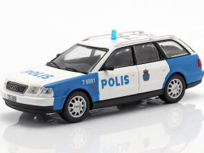 Audi A6 Avant Polizei weiß / blau in Blister 1:43 Altaya