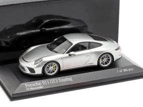 Porsche 911 (991 II) GT3 Touring Construction year 2018 silver metallic 1:43 Minichamps