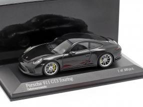 Porsche 911 (991 II) GT3 Touring year 2018 black metallic 1:43 Minichamps