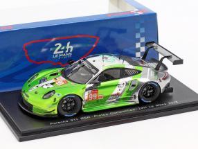 Porsche 911 (991) RSR #99 24h LeMans 2018 Long, Pappas, Pumpely 1:43 Spark
