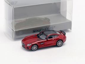 Mercedes-Benz AMG GTS Baujahr 2015 rot metallic 1:87 Minichamps
