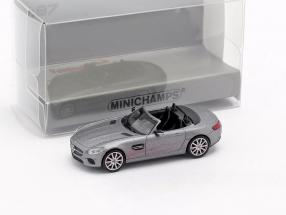 Mercedes-Benz AMG GTS Roadster Baujahr 2015 mattgrau 1:87 Minichamps