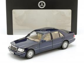 Mercedes-Benz S500 (W140) Year 1994-98 azurite blue 1:18 Norev