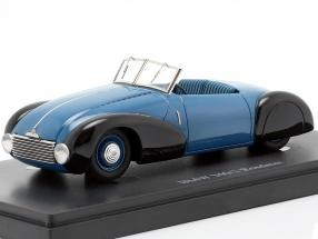 BMW 340/1 Roadster year 1949 blue / black 1:43 AutoCult