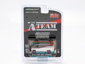 B.A.'s GMC Vandura 1983 TV series The A-Team (1983-87) chrome 1:64 Greenlight