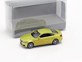 BMW M4 coupe year 2015 yellow metallic 1:87 Minichamps