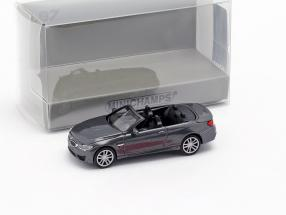 BMW M4 Cabriolet year 2015 grey metallic 1:87 Minichamps