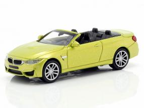 BMW M4 Cabriolet Construction year 2015 yellow metallic 1:87 Minichamps