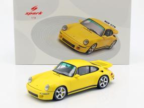 Porsche RUF CTR year 2017 yellow 1:18 Spark