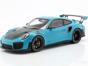 Porsche 911 (991 II) GT2 RS year 2018 Miami blue 1:18 Spark