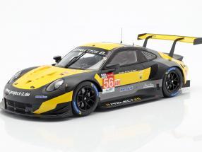 Porsche 911 RSR #56 24h LeMans 2018 Bergmeister, Lindsey, Perfetti 1:18 Spark