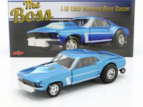 Ford Mustang Gasser The Boss year 1969 blue metallic