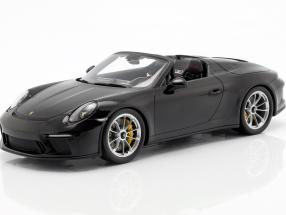 Porsche 911 (991 II) Speedster year 2019 with showcase black 1:18 Spark