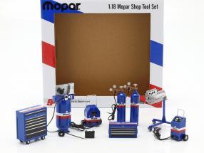Shop tool Set Mopar blue / white / red 1:18 GMP
