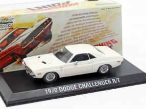 Dodge Challenger R/T year 1970 movie Vanishing Point (1971) White 1:43 Greenlight