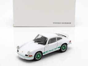 Porsche 911 Carrera RS year 1973 white / green 1:24 Welly