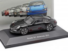 Porsche 911 (991) 50th Anniversary 2013 schwarz 1:43 Atlas