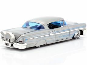 Chevy Impala Hard Top year 1958 silver gray / blue  Jada Toys