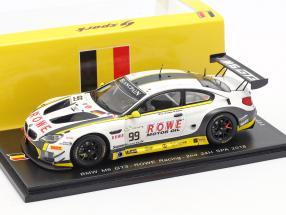 BMW M6 GT3 #99 2nd 24h Spa 2018 Catsburg, Klingmann, Sims 1:43 Spark