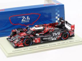 Rebellion R13 #3 3rd 24h LeMans 2018 Menezes, Beche, Laurent 1:43 Spark