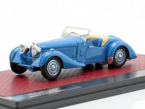 Bugatti Type 57 S Corsica Roadster Malcolm Campbell year 1937 blue 1:43 Matrix
