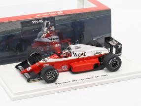 Aguri Suzuki Zakspeed 891 #35 japanese GP formula 1 1989 1:43 Spark