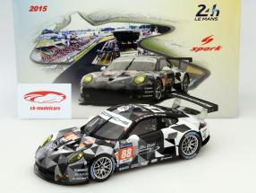 Porsche 911 RSR #88 24h LeMans 2015 Ried, Bachler, Al Qubaisi 1:18 Spark 2nd choice
