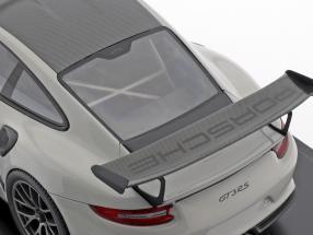 Porsche 911 (991 II) GT3 RS Weissach Package kreidegrau / schwarz mit Vitrine 1:18 Spark 2. Wahl