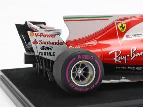 Kimi Räikkönen Ferrari SF70H #7 4th Australien GP Formel 1 2017 mit Vitrine 1:18 LookSmart 2. Wahl