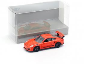 Porsche 911 (991) GT3 RS year 2013 lava orange / black 1:87 Minichamps