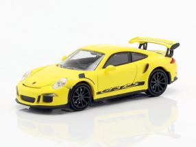 Porsche 911 (991) GT3 RS year 2013 racing yellow / black 1:87 Minichamps