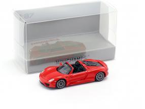 Porsche 918 Spyder Baujahr 2013 rot 1:87 Minichamps