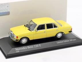 Mercedes-Benz 230 E (W123) year 1982 yellow 1:43 Minichamps